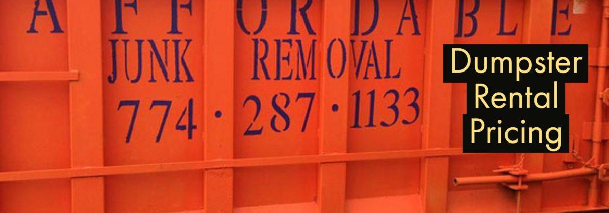 Dumpster Rental Pricing